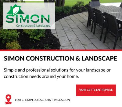 Entreprise locale Simon Construction Landscape