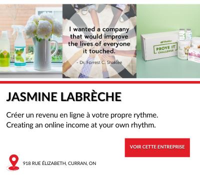 Entreprise locale Jasmine Labreche